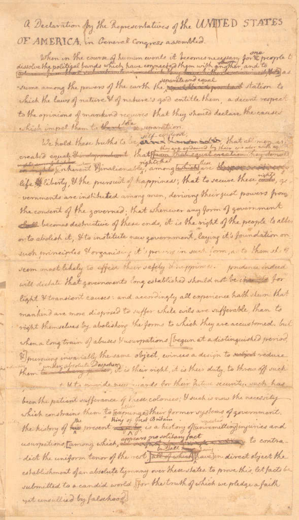 the declaration of independence text. Jefferson#39;s draft Declaration