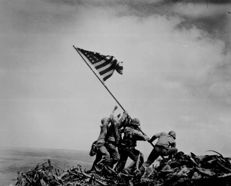 Mount Suribachi, Iwo Jima February 23, 1945 Click for larger version.