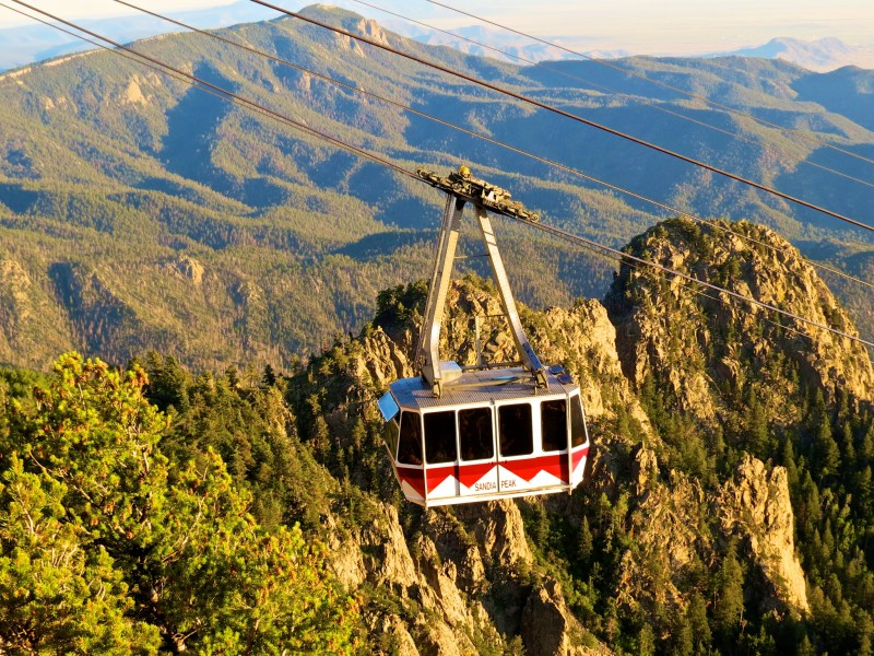 Sandia Peak Tramway August 8, 2014 Seriously? 40-50 people hanging from that apparatus? Click for larger version.