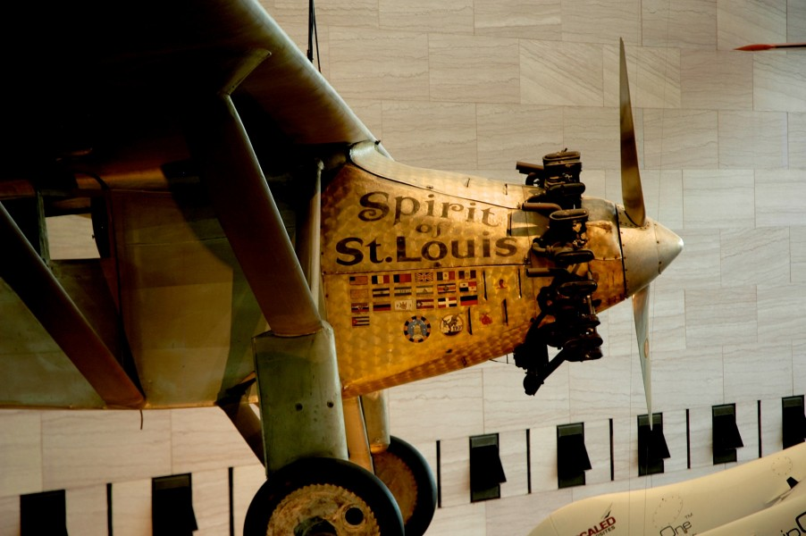 Spirit of St. Louis  National Air and Space Museum October 25, 2009 Click for larger version.